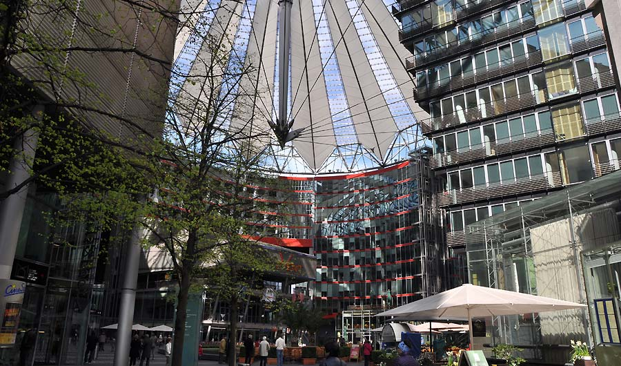 Sony Center ved Postdamer Platz